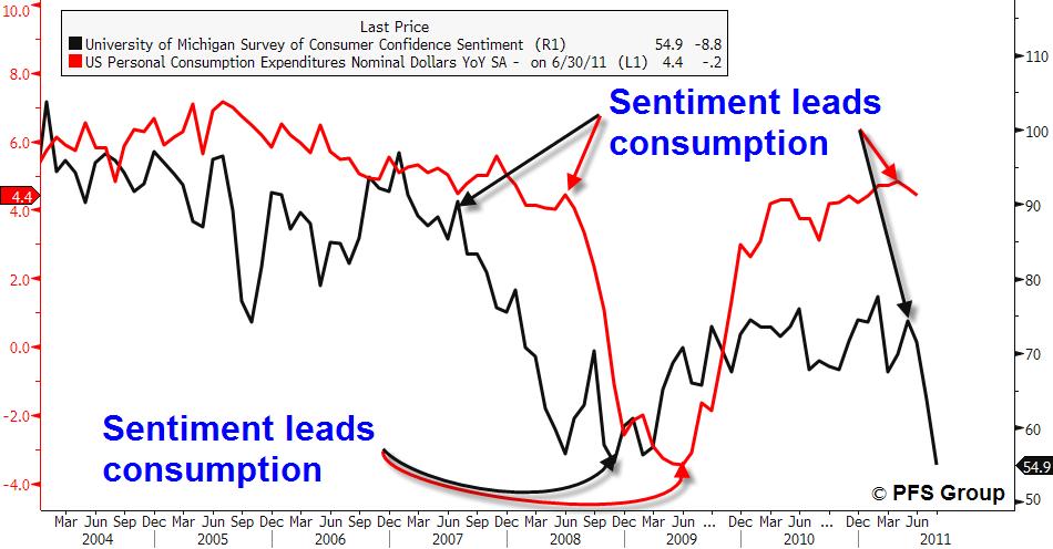 sentiment leads consumption