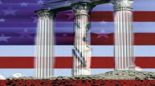 crumbling pillars in america
