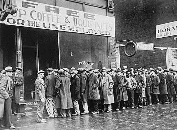 the great depression bread line