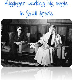 Henry Kissinger goes to Saudi Arabia in 1973