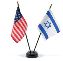U.S. and Israel flags