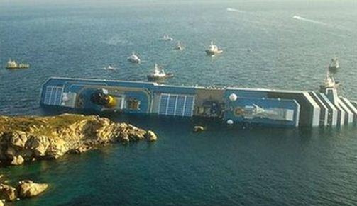 italy cruise ship on side