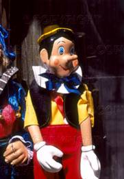 Stock Image - pinocchio puppet, prague, old town, cesky krumlov, czech republic. fotosearch - search stock photos, pictures, images, and photo clipart