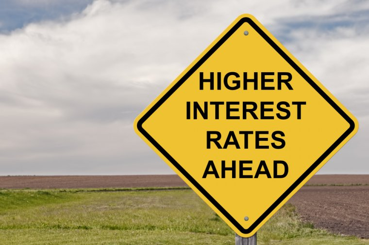 higher interest rates sign